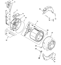 whirlpool wfw9250ww01 tub and basket parts diagram [ 2550 x 3300 Pixel ]