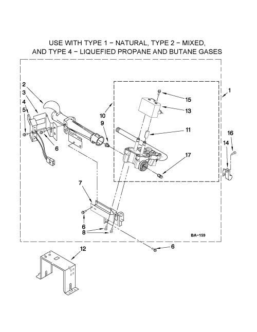 small resolution of whirlpool wgd9050xw1 w10293911 burner assembly diagram