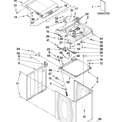Whirlpool Washer Parts Diagram Structure Of The Eye With Labels Automatic Model Wtw7340xw2