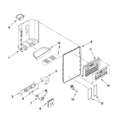 whirlpool gsf26c4exb02 dispenser front parts diagram [ 1701 x 2201 Pixel ]