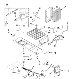 whirlpool gsf26c4exb02 unit parts diagram [ 1701 x 2201 Pixel ]