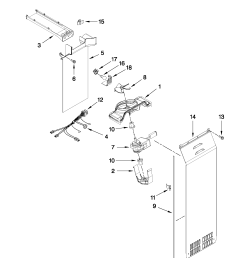 whirlpool gsf26c4exb02 air flow parts diagram [ 1701 x 2201 Pixel ]
