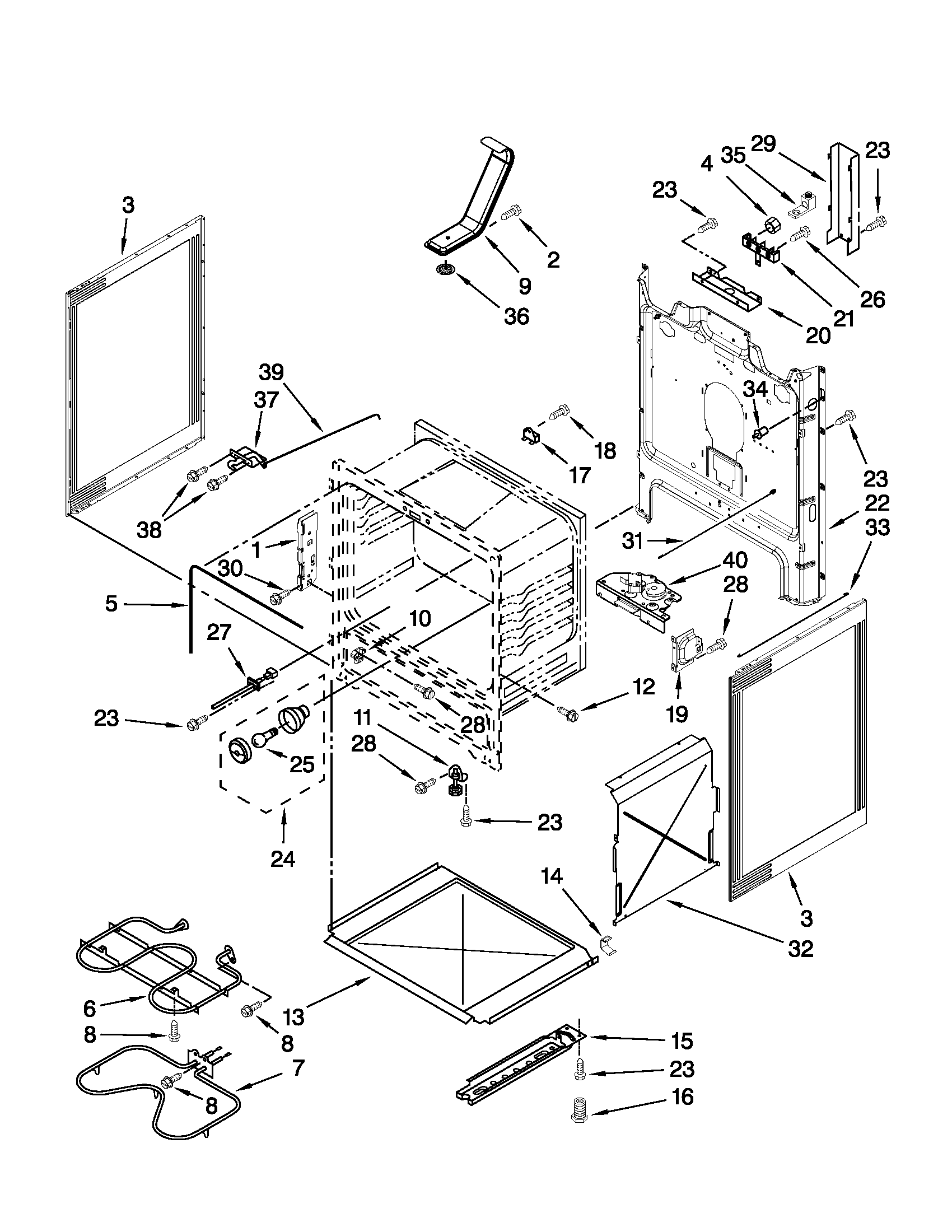 CHASSIS PARTS Diagram & Parts List for Model wfe510s0as0