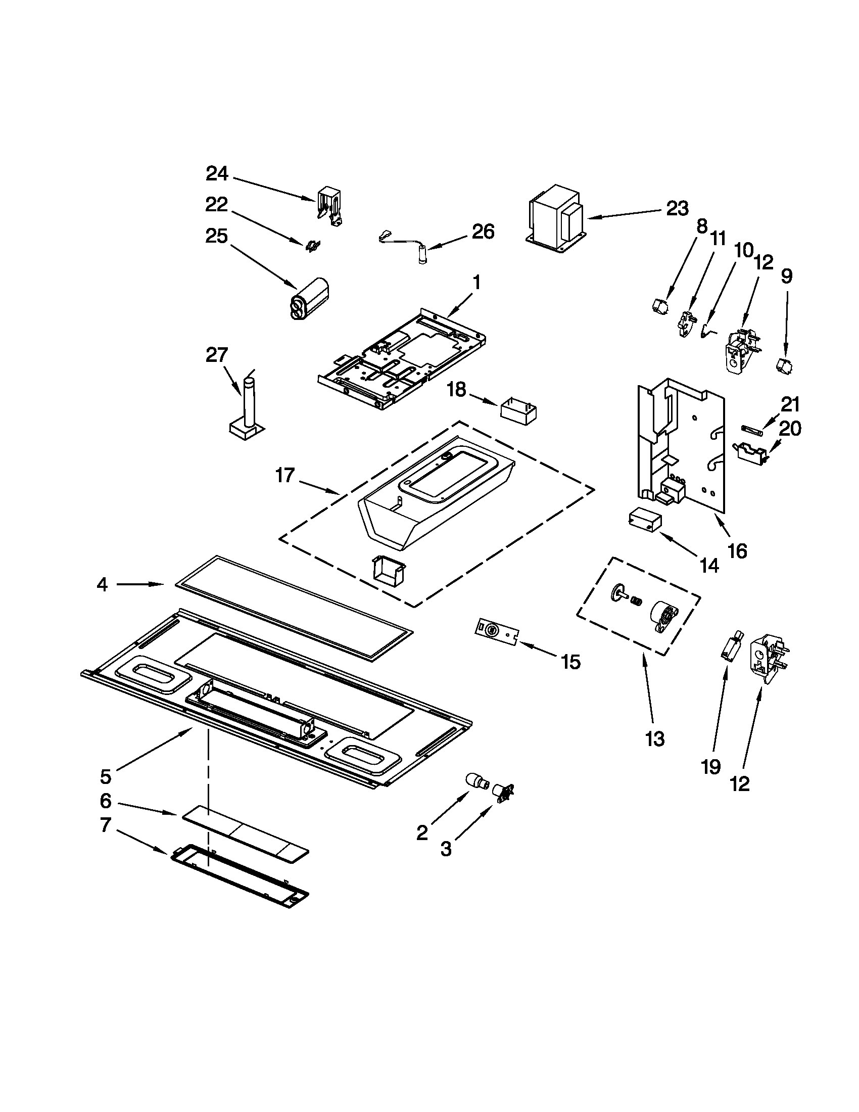 hight resolution of kitchenaid khms2040wbl0 interior and ventilation parts diagram