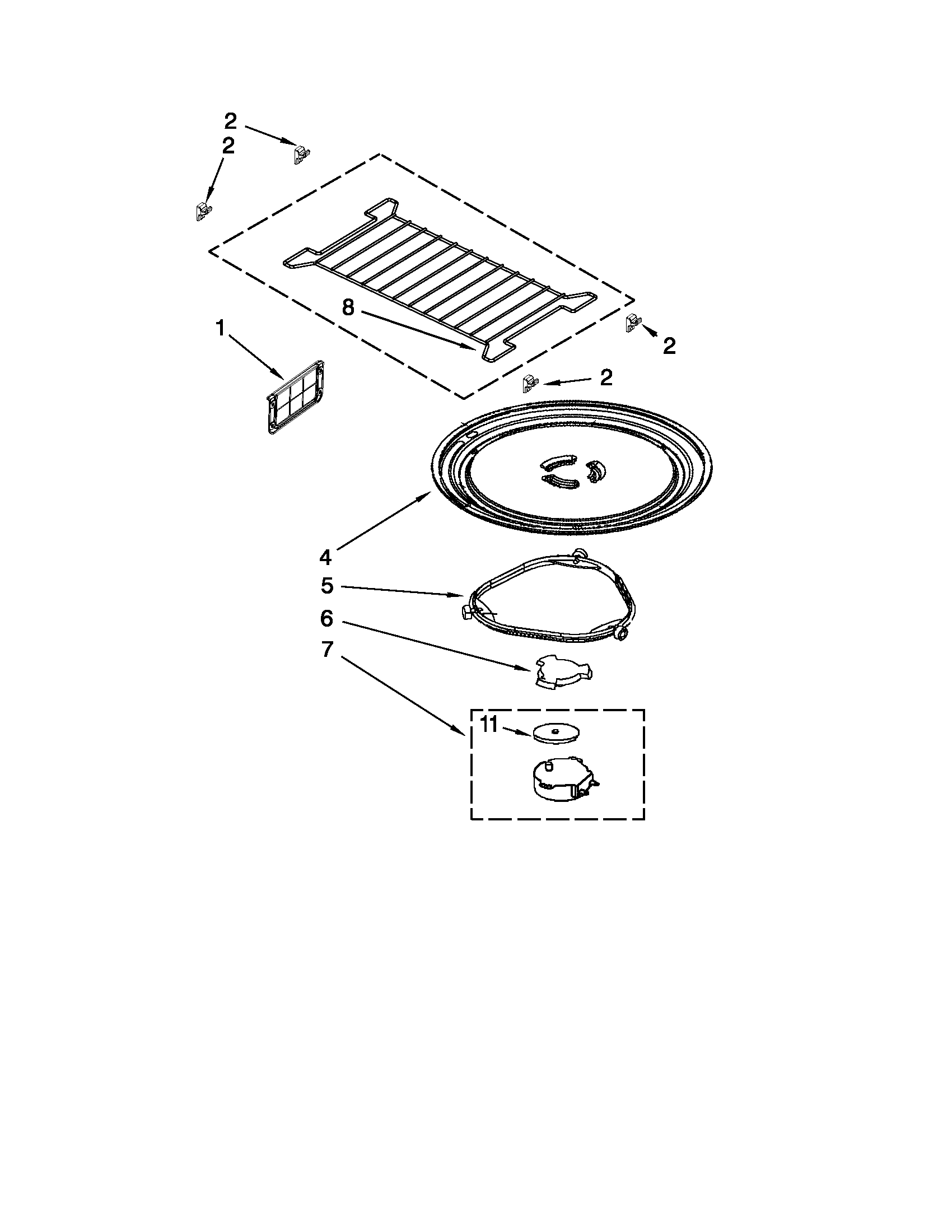 Whirlpool Microwave Parts Turntable