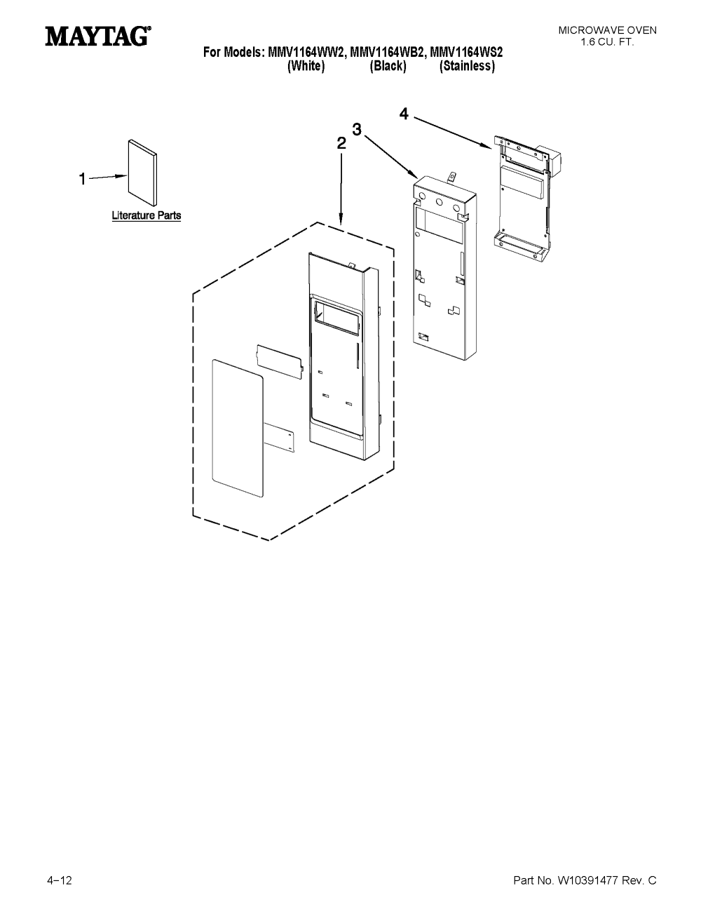 medium resolution of maytag mmv1164ws2 control panel parts diagram