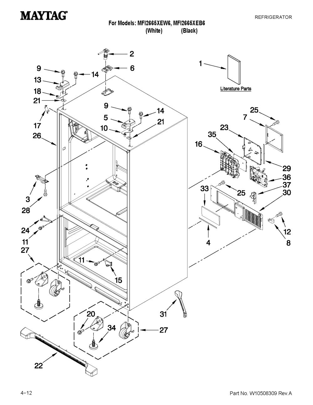 medium resolution of maytag mfi2665xew6 wiring schematic wiring diagrams simplemaytag model mfi2665xew6 bottom mount refrigerator genuine parts maytag mfi2665xew6