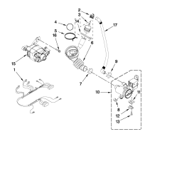 whirlpool wfw9150ww01 pump and motor parts diagram [ 1701 x 2201 Pixel ]