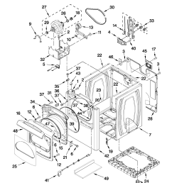 whirlpool model wed8800yc1 residential dryer genuine parts rh searspartsdirect com saturn sl2 cooling system diagram 1997 [ 1701 x 2201 Pixel ]