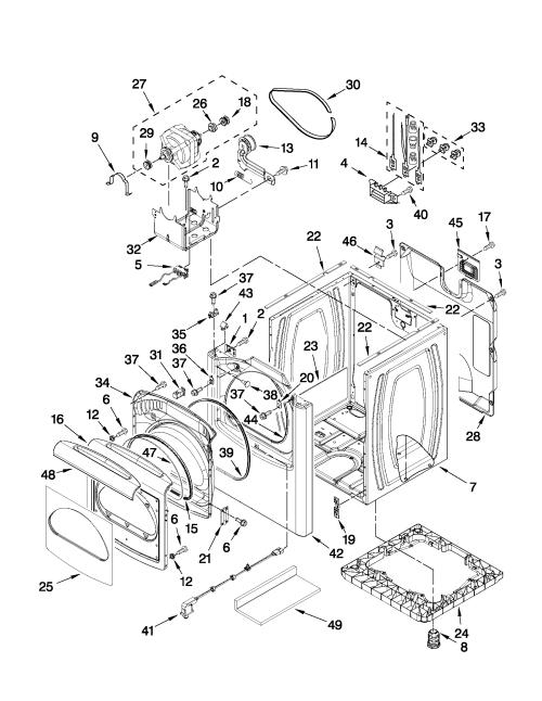 small resolution of whirlpool model wed8800yc1 residential dryer genuine parts rh searspartsdirect com saturn sl2 cooling system diagram 1997