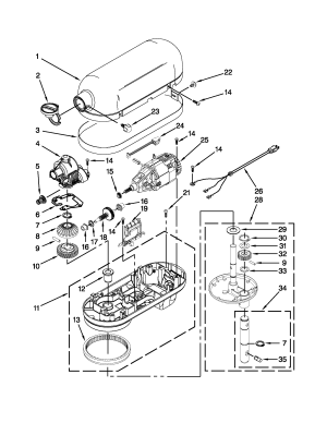 Kitchenaid Stand Mixer Parts Diagram – Wow Blog
