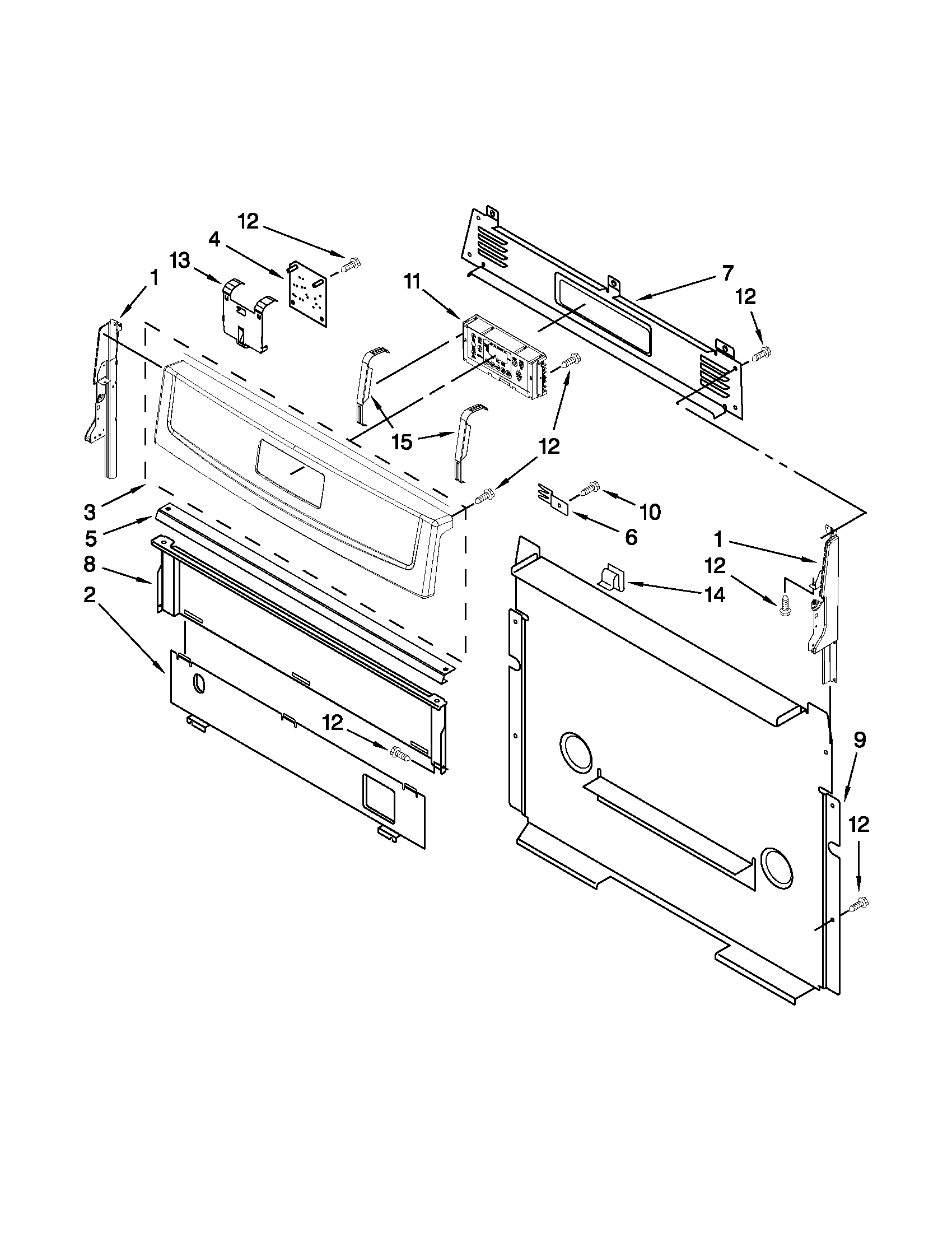 hight resolution of amana agr5844vdw5 control panel parts diagram