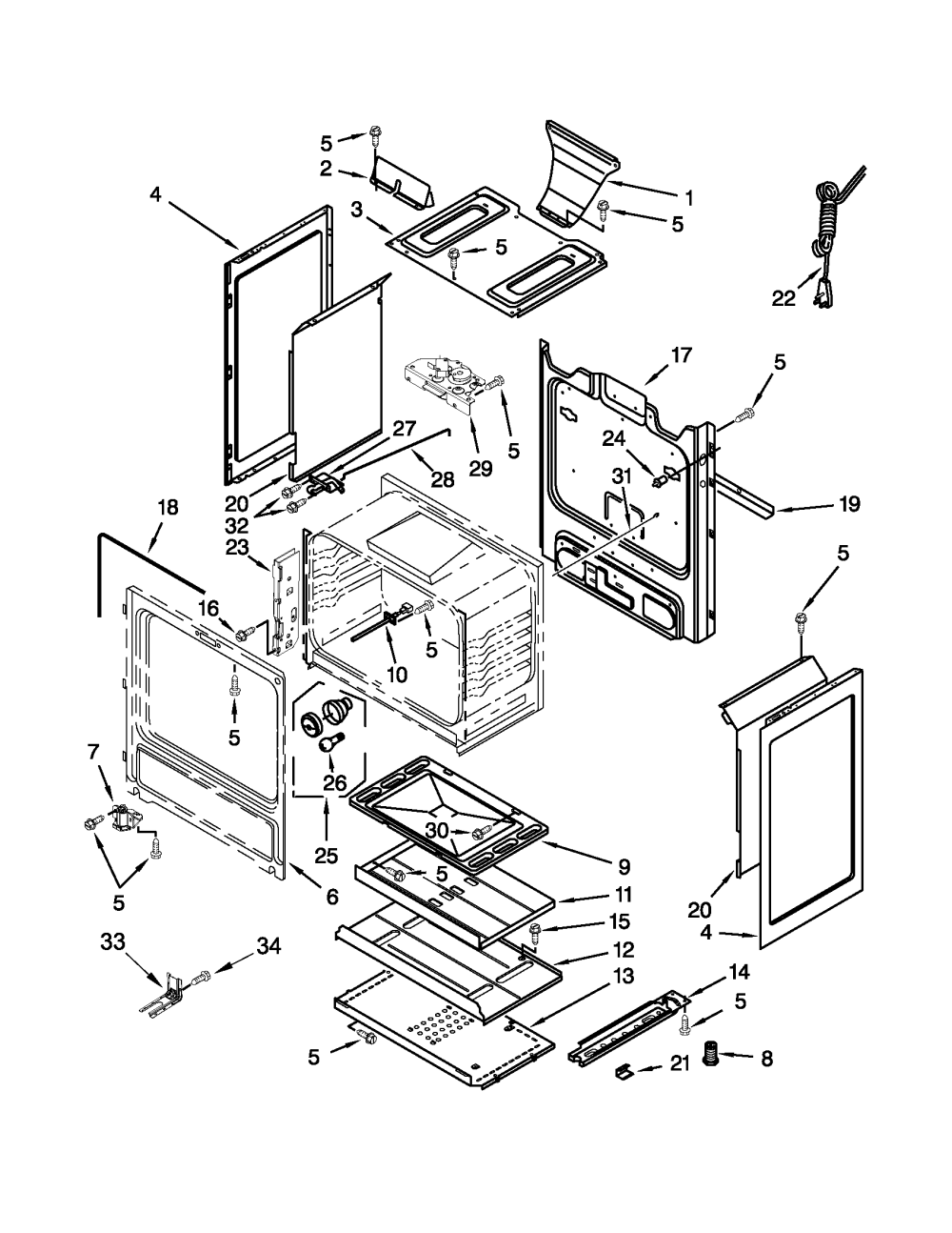 medium resolution of amana agr5844vdw5 chassis parts diagram
