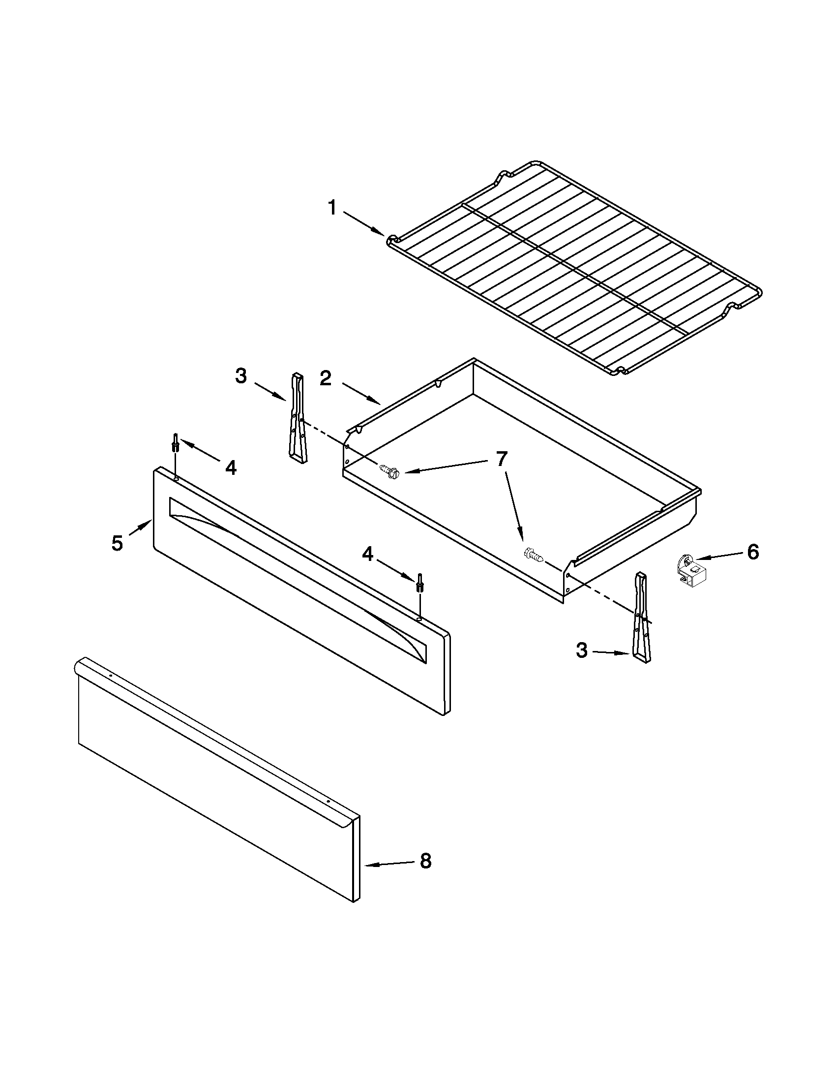 hight resolution of amana agr5844vdw5 drawer broiler parts diagram