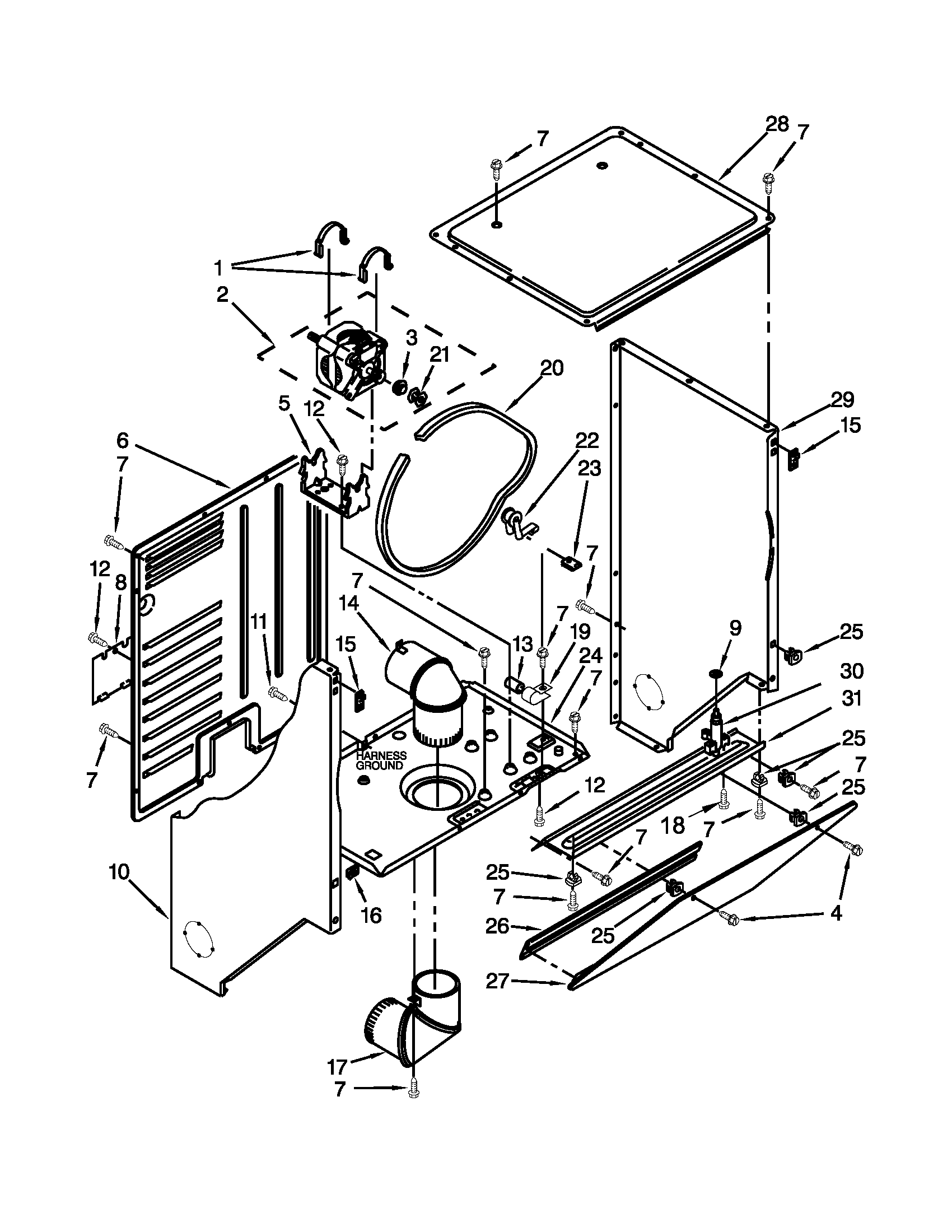 looking for whirlpool model lte5243dqb laundry center repair whirlpool replacement parts motor repalcement parts and diagram [ 1700 x 2200 Pixel ]