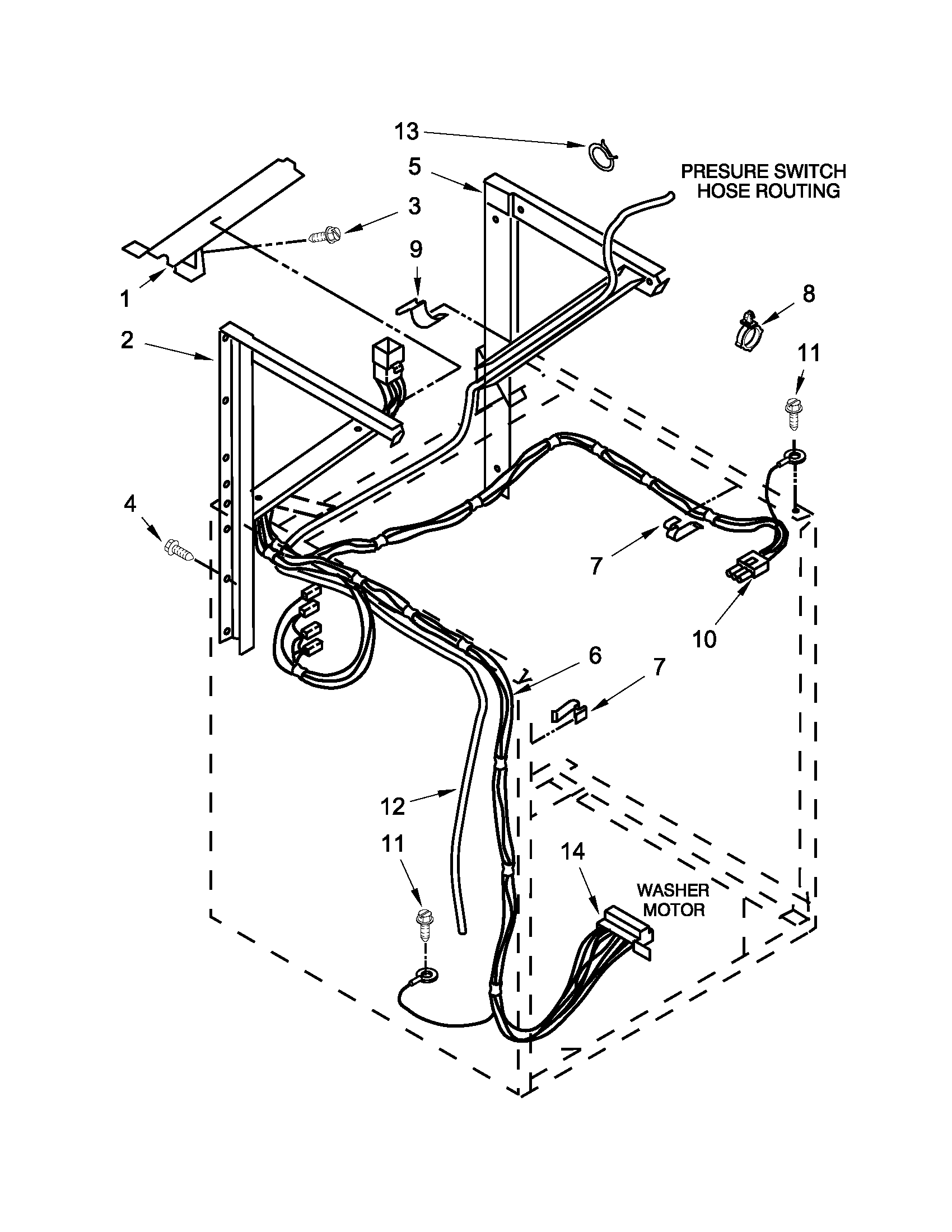 whirlpool lte5243dqb dryer support and washer parts diagram [ 1700 x 2200 Pixel ]