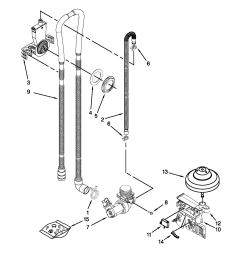 amana dishwasher parts diagram [ 1700 x 2200 Pixel ]