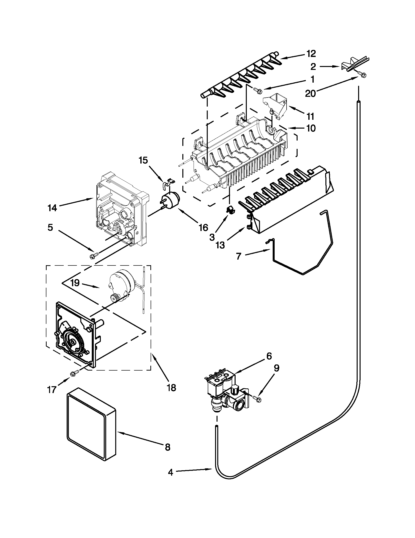 ice maker diagram honda qr 50 wiring icemaker parts and list for model asd2575brs01