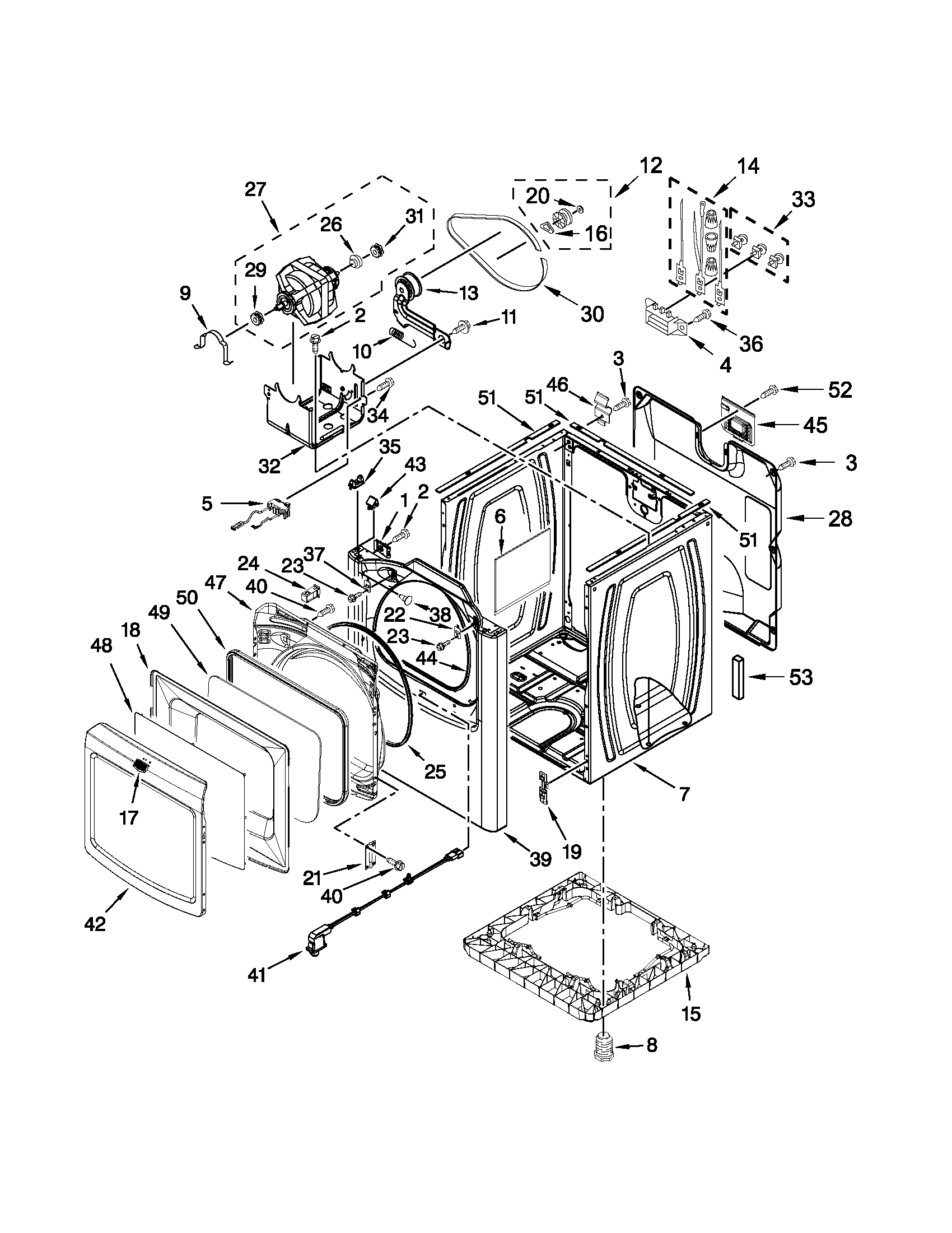 CABINET PARTS Diagram & Parts List for Model medb980bw0