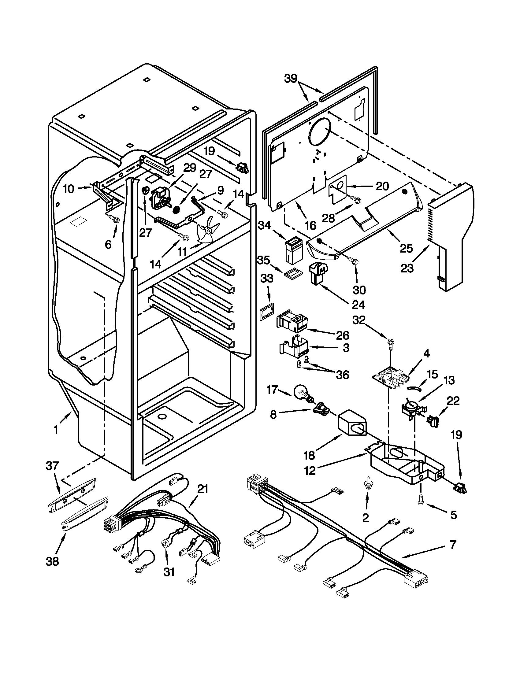 LINER PARTS Diagram & Parts List for Model w8rxngmbb00