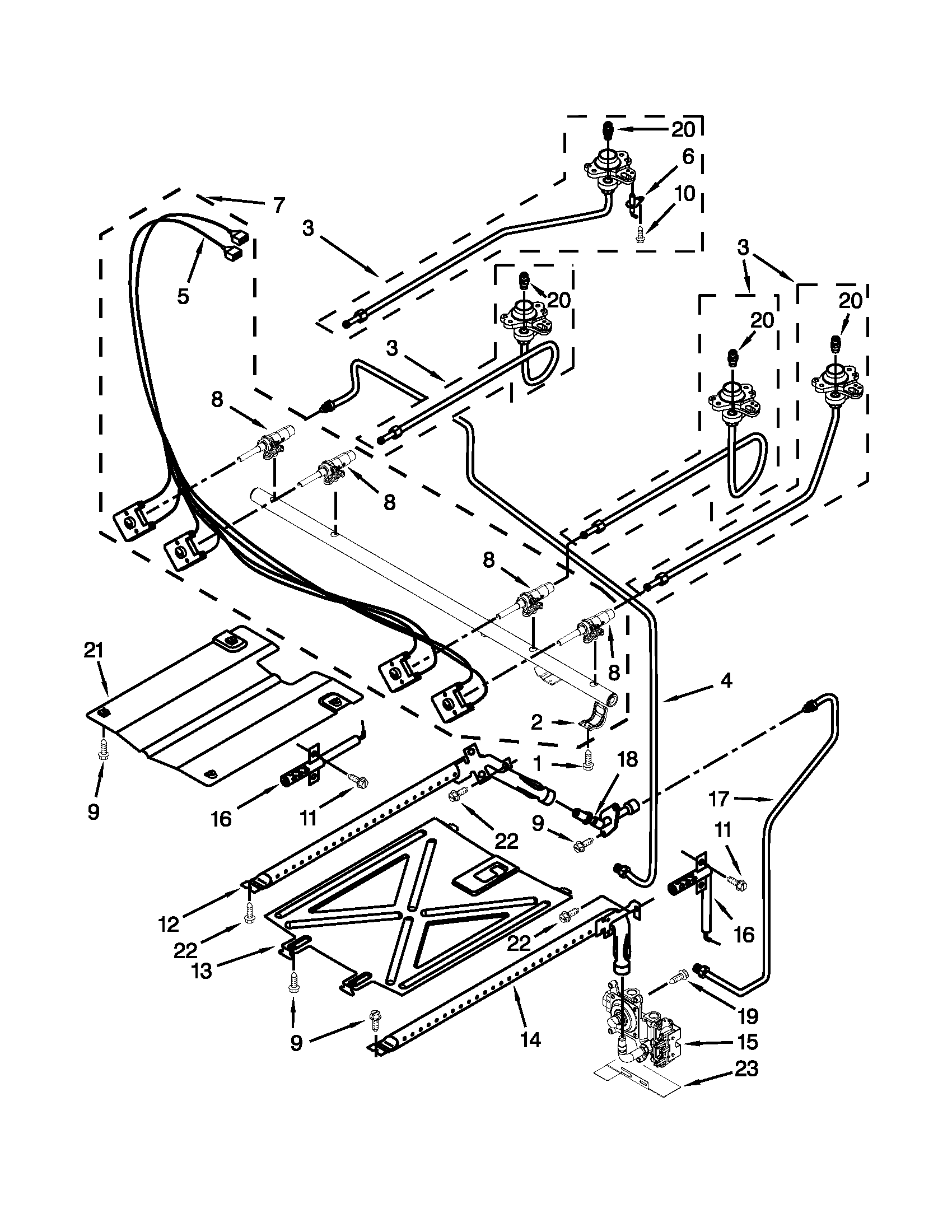 MANIFOLD PARTS Diagram & Parts List for Model agr5630bdb0