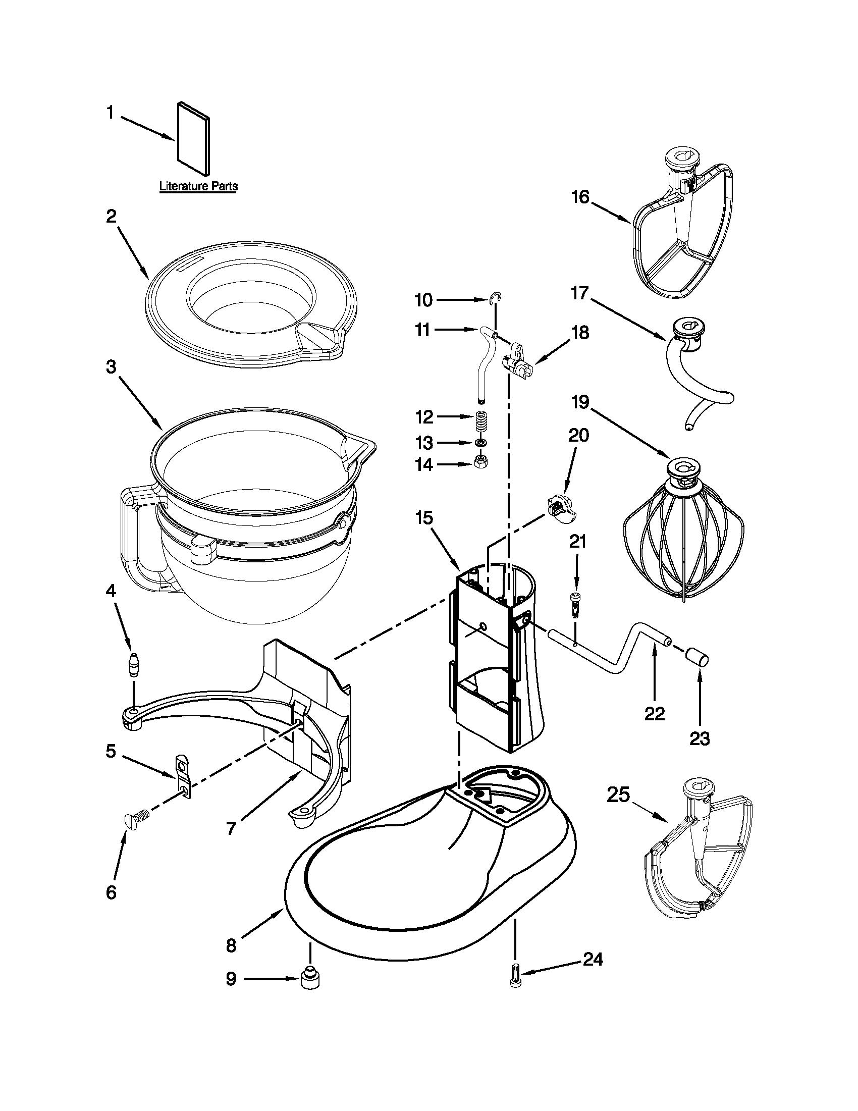 BASE AND PEDESTAL UNIT Diagram & Parts List for Model
