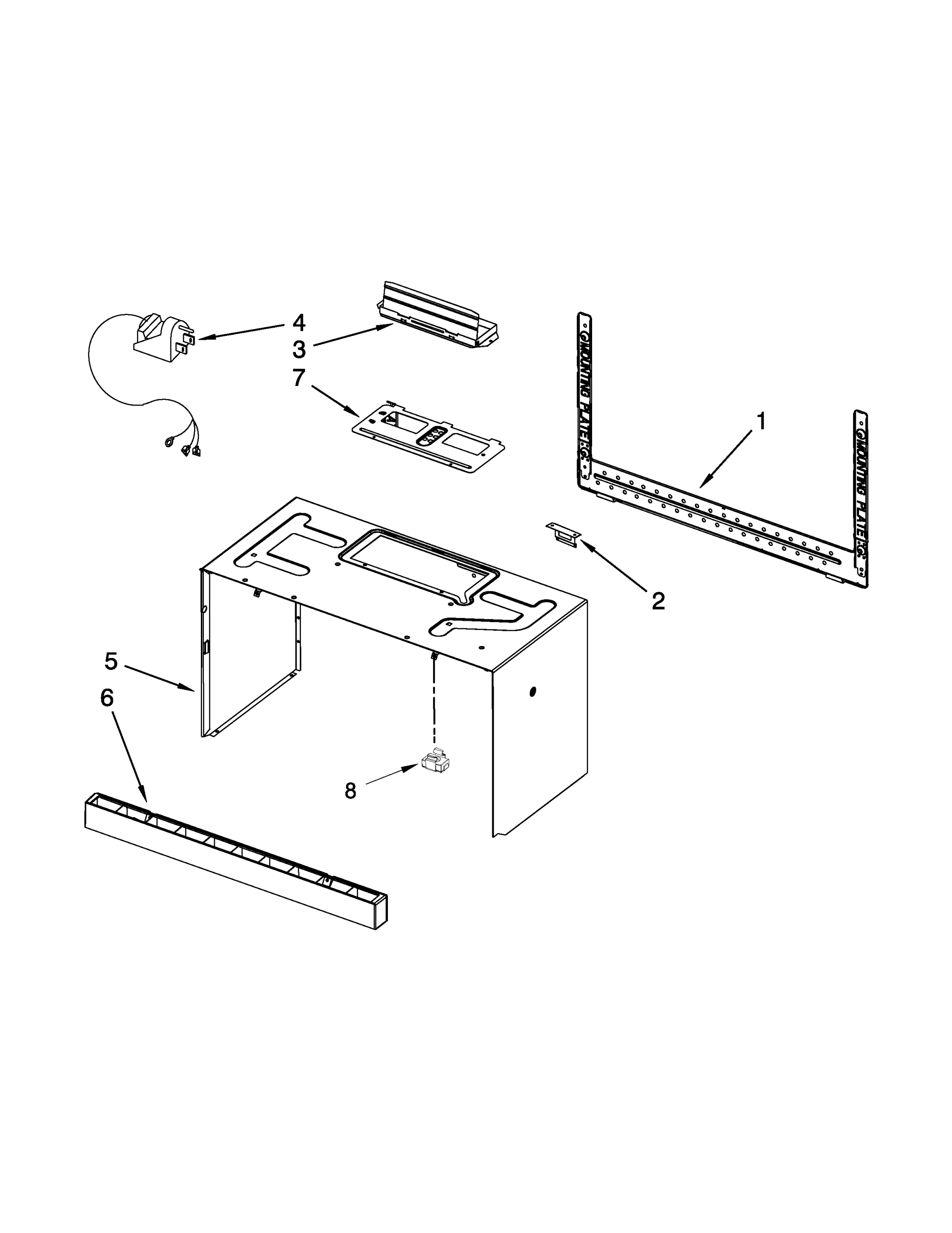 hight resolution of maytag mmv5208ww1 cabinet and installation parts diagram