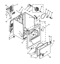 amana ned4655ew0 cabinet parts diagram [ 2550 x 3300 Pixel ]