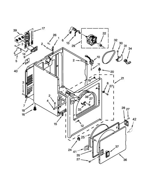 small resolution of amana ned4655ew0 cabinet parts diagram