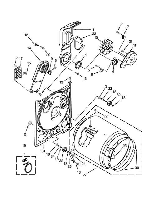 small resolution of amana ned4655ew0 bulkhead parts diagram