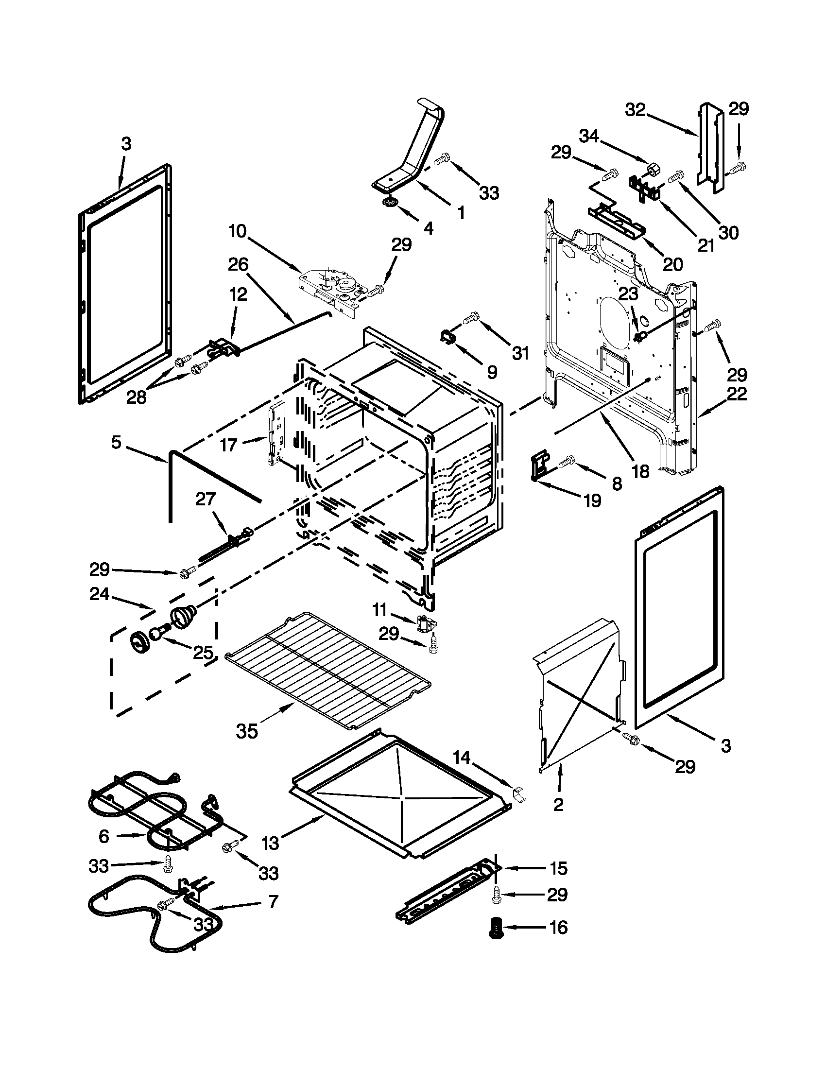 CHASSIS PARTS Diagram & Parts List for Model aer5630baw0
