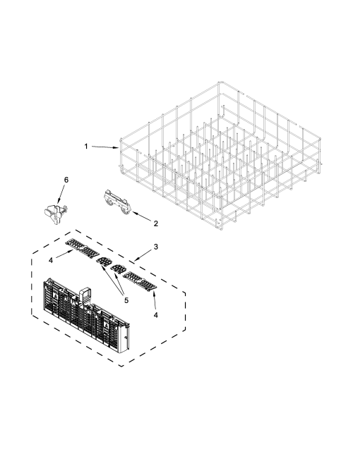 small resolution of whirlpool wdt720padm2 lower rack parts diagram