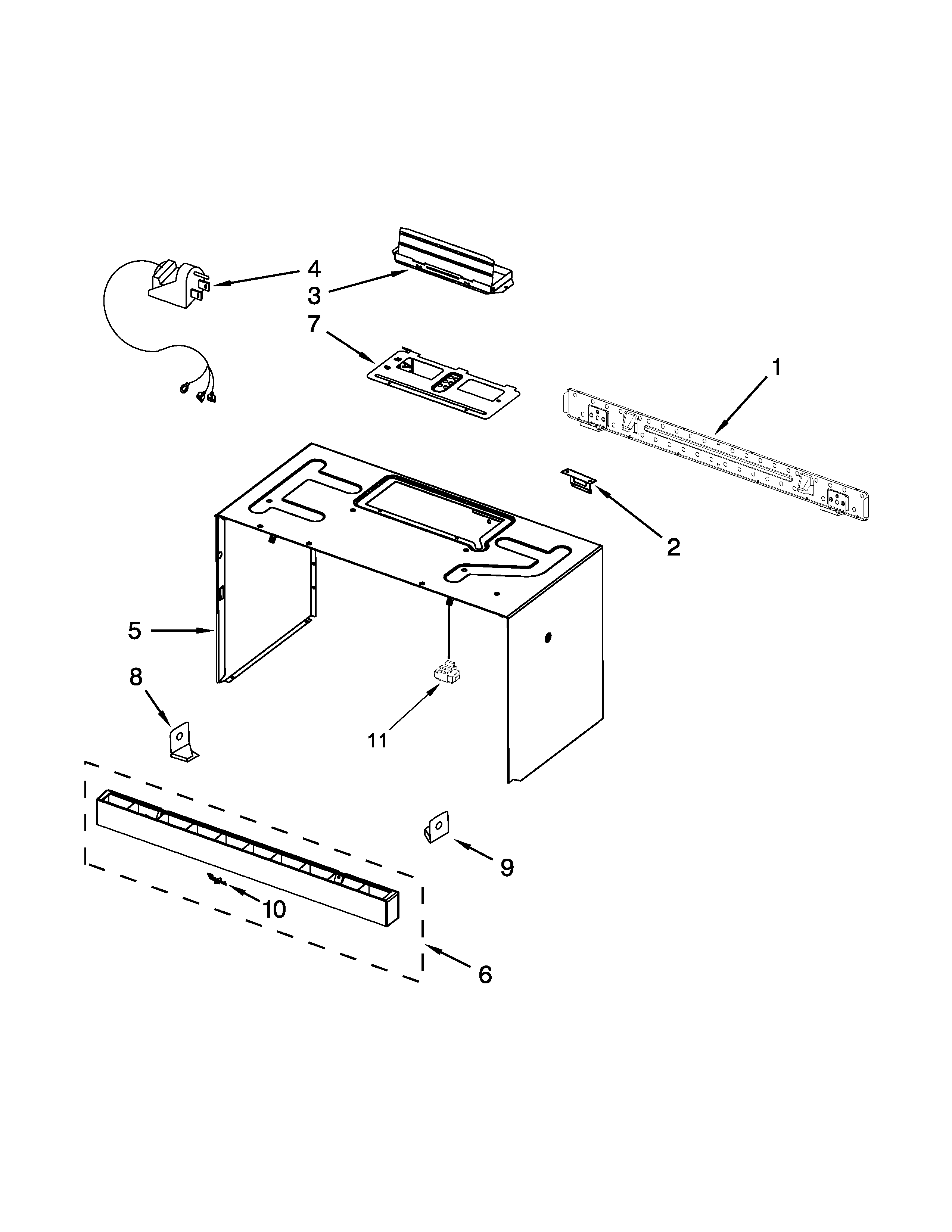 CABINET AND INSTALLATION PARTS Diagram & Parts List for
