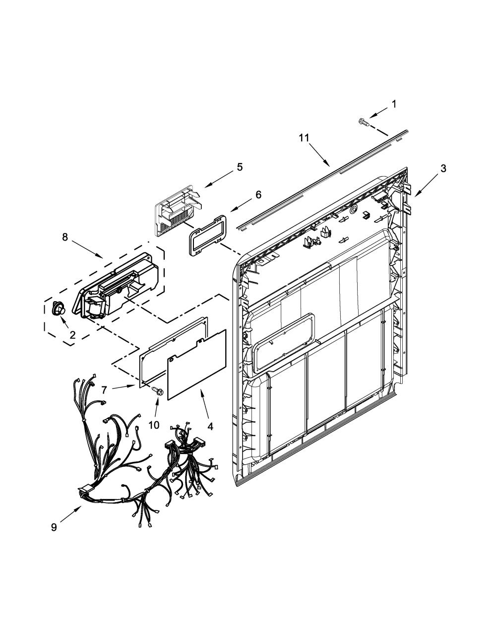 medium resolution of amana model adb1300afw1 dishwasher genuine parts amana dishwasher parts amana dishwasher wiring diagram