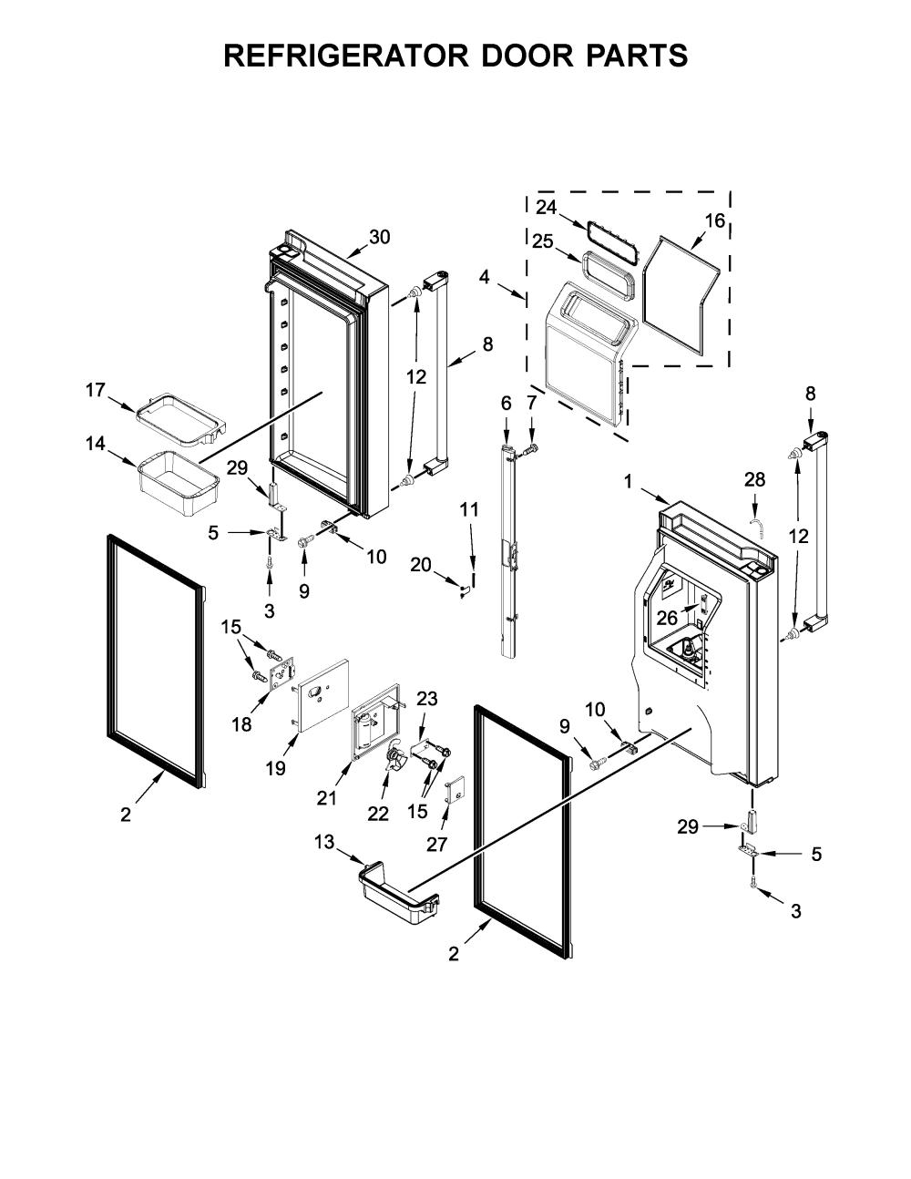 medium resolution of looking for kitchenaid model krmf706ess01 bottom mount refrigerator diagram also kitchenaid refrigerator parts diagram as well kitchenaid
