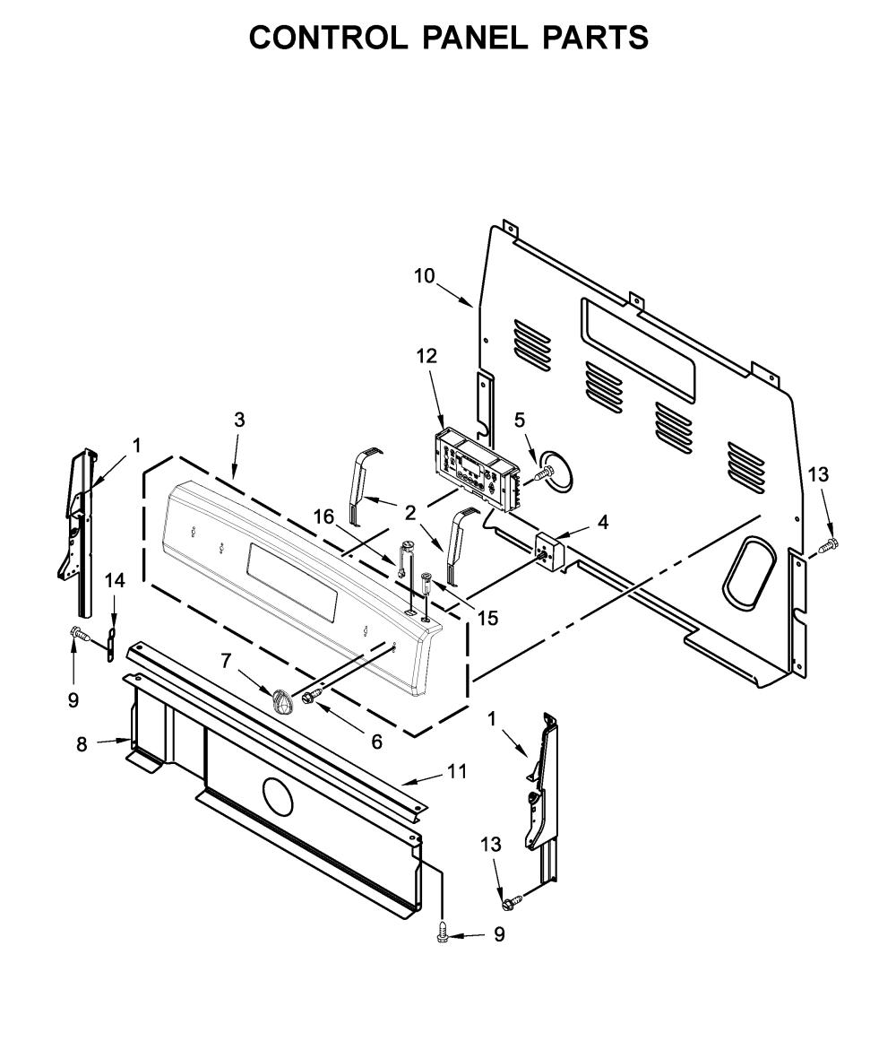medium resolution of amana yacr4303mfw2 control panel parts diagram