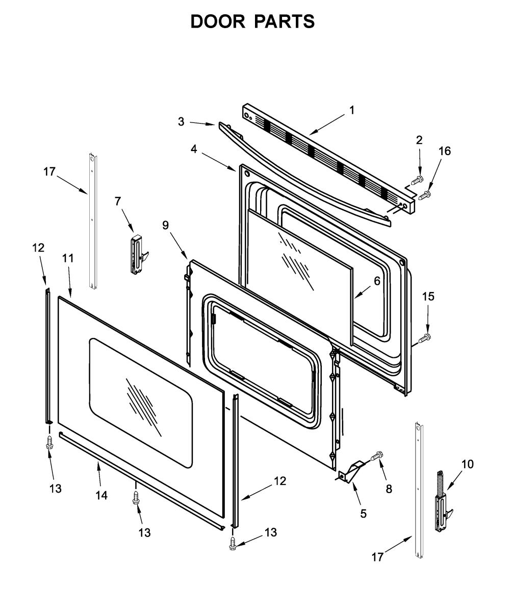 medium resolution of amana yacr4303mfw2 door parts diagram