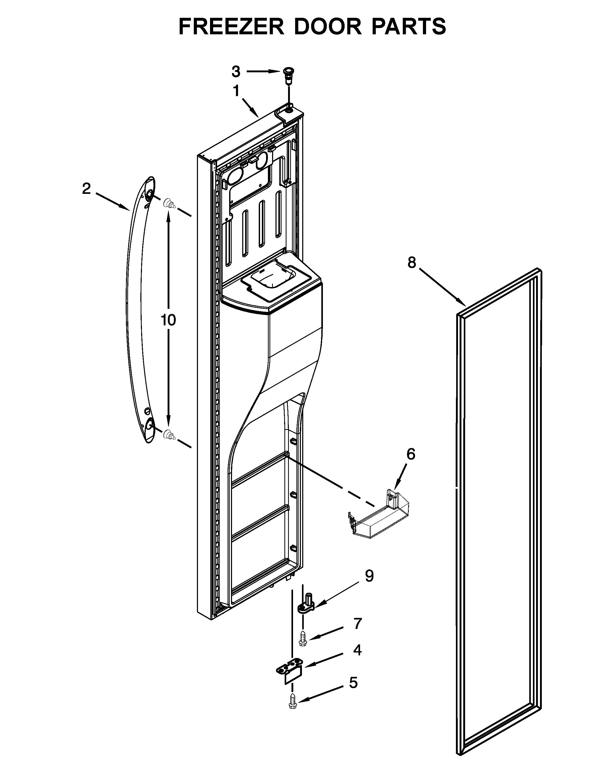 small resolution of whirlpool wrs555sihz00 freezer door parts diagram