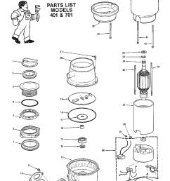 diagram of a garbage disposal [ 1224 x 1584 Pixel ]