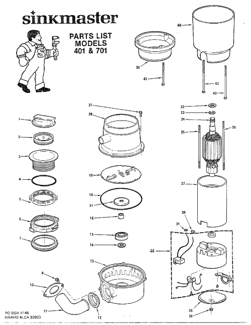 small resolution of diagram of a garbage disposal
