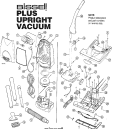 looking for bissell model 3553m upright vacuum repair replacement parts  [ 1224 x 1584 Pixel ]