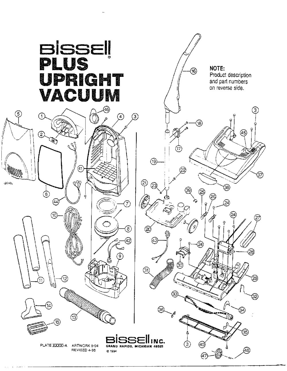 medium resolution of looking for bissell model 3553m upright vacuum repair replacement parts