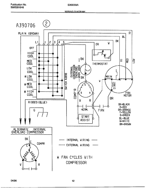 small resolution of ge 8000 btu window air conditioner wiring diagram