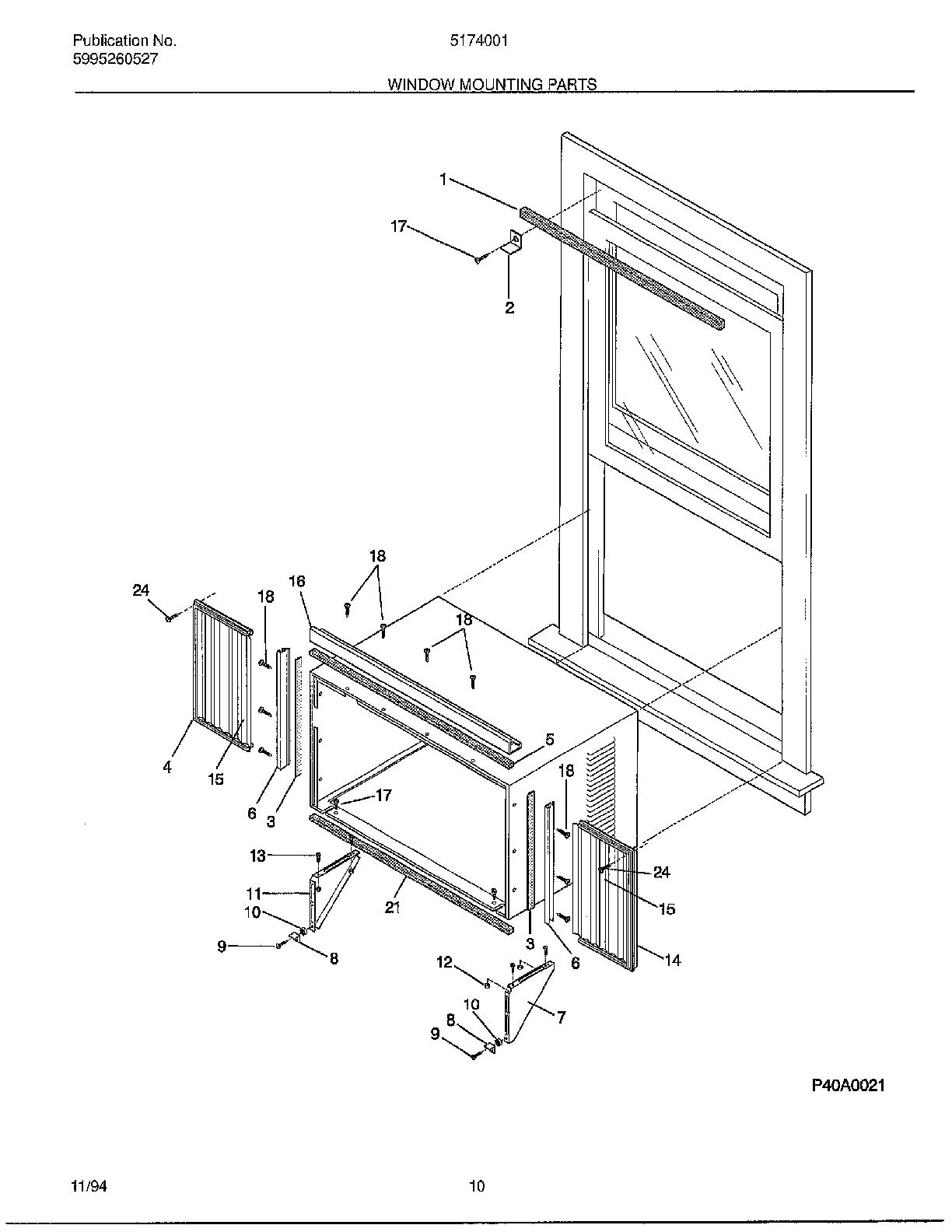 Window Air Conditioner Diagram