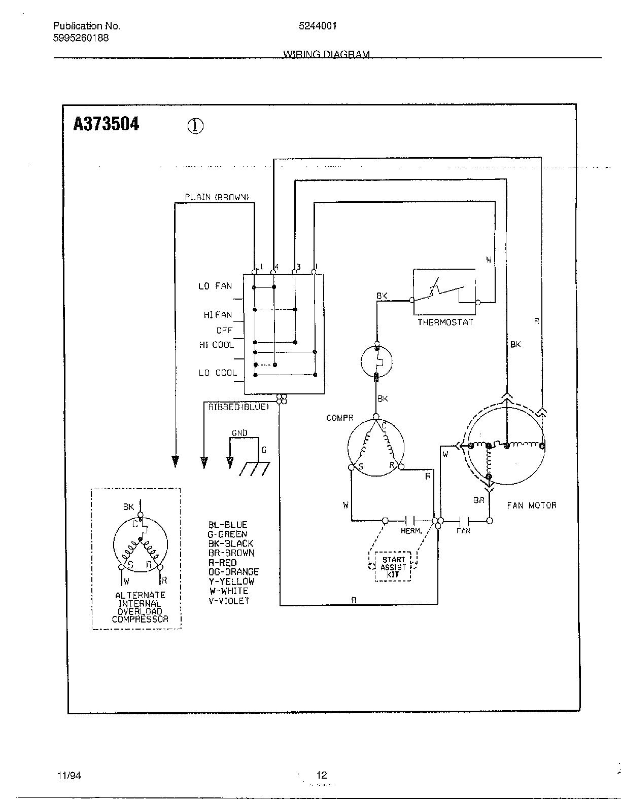 wiring diagram for hvac unit 3 phase electric motor starter window refrigerator