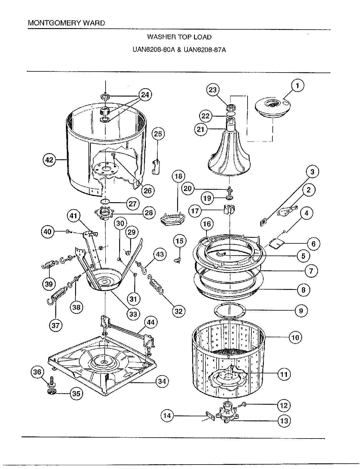 Wiring Diagram: 32 Frigidaire Washing Machine Parts Diagram