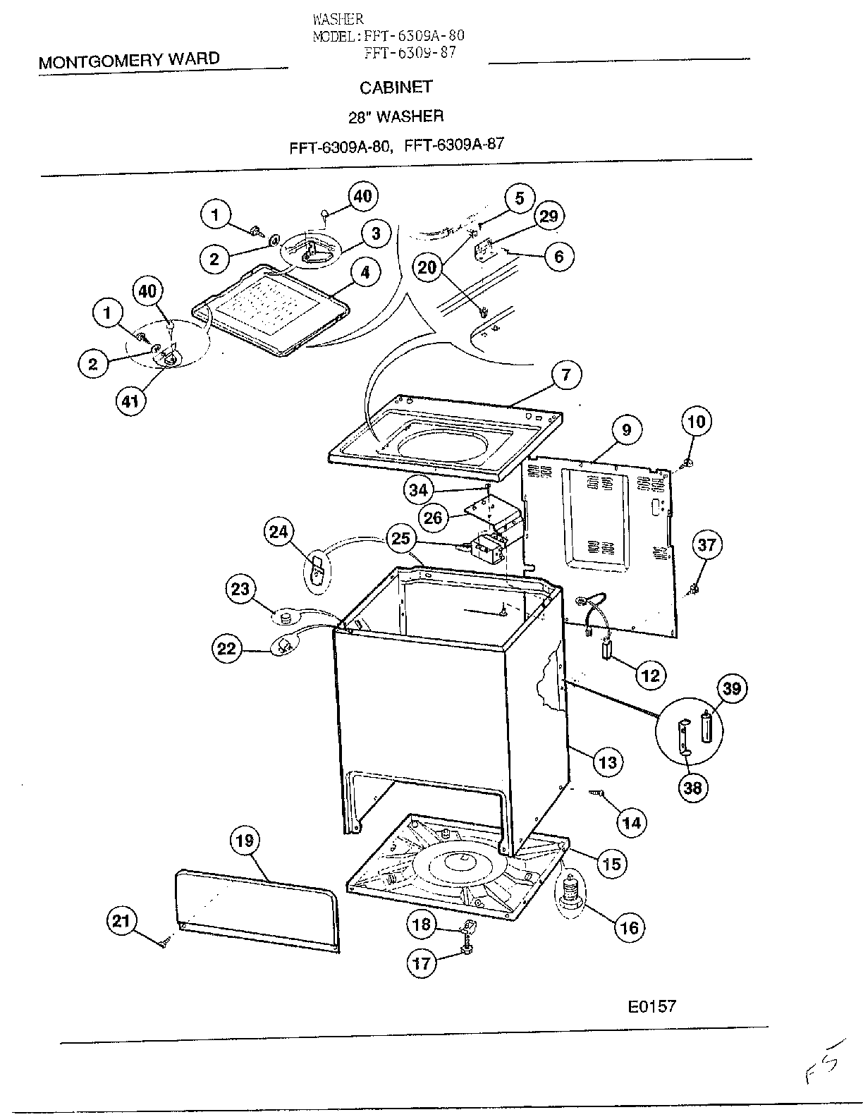 frigidaire front load washer parts diagram power wheels wiring model 6309a sears partsdirect