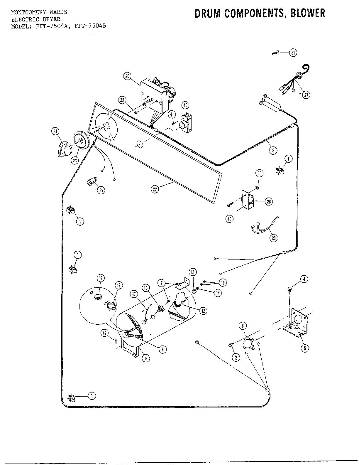 Wiring Diagram: 27 Frigidaire Dryer Parts Diagram