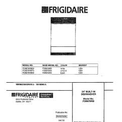 Frigidaire Gallery Dishwasher Parts Diagram Chevy Impala Wiring Model 789 Sears