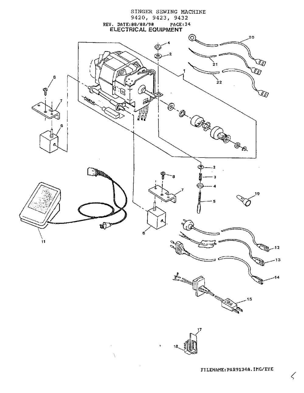medium resolution of singer model 9432 mechanical sewing machines genuine parts